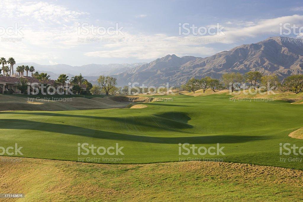 Fairway On Golf Course At La Quinta California stock photo
