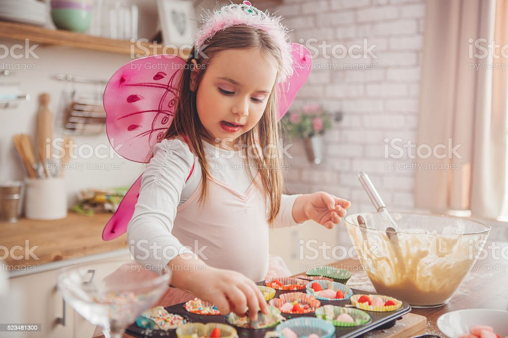 Fairy cakes stock photo