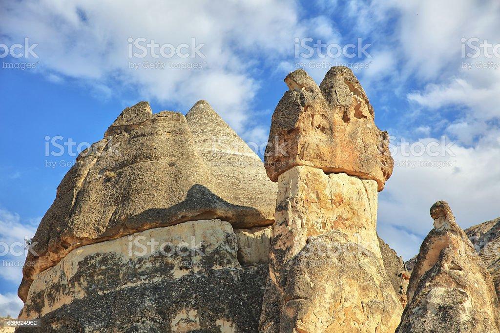 Fairy Chimneys; Cappadocia, Turkey stock photo