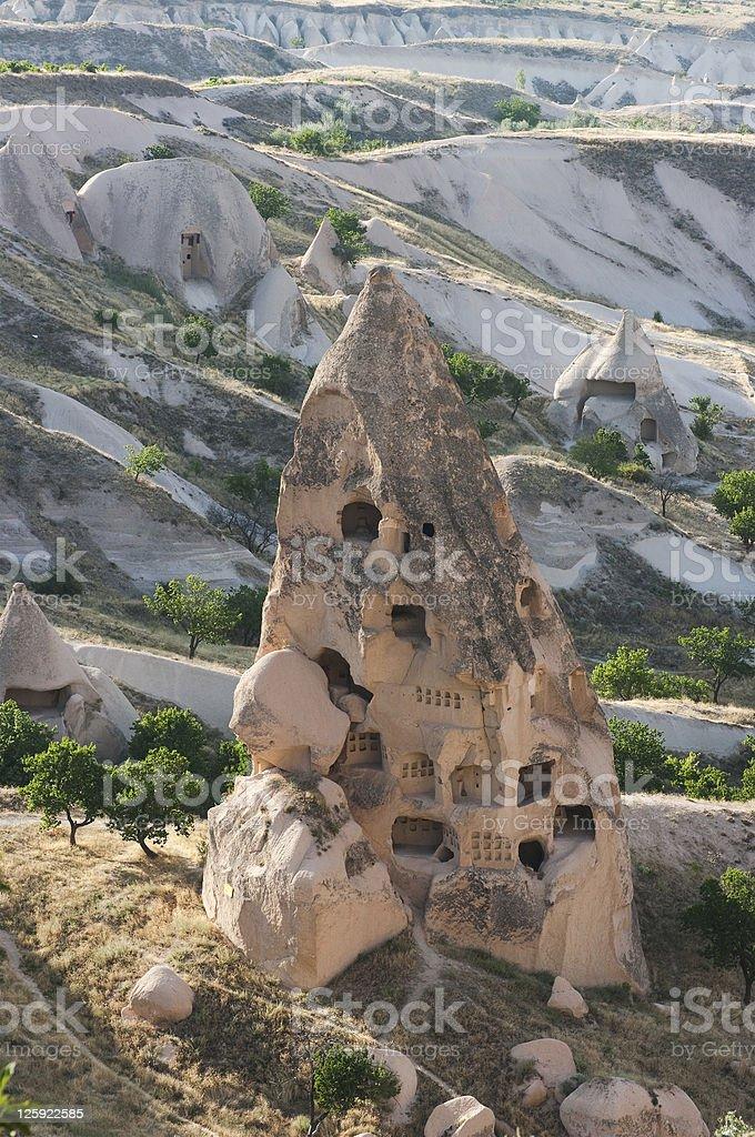 Fairy Chimneys In Cappadocia royalty-free stock photo