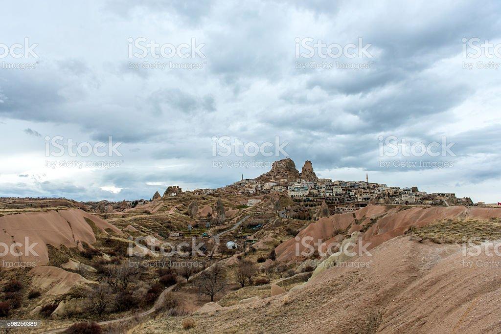 fairy chimneys in Cappadocia, Turkey stock photo