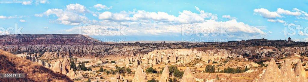 Fairy Chimneys In Rose Valley; Cappadocia, Turkey - 15000px stock photo