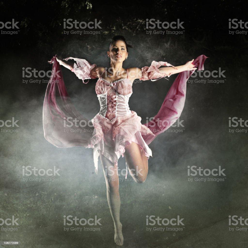 Fairy dancing stock photo