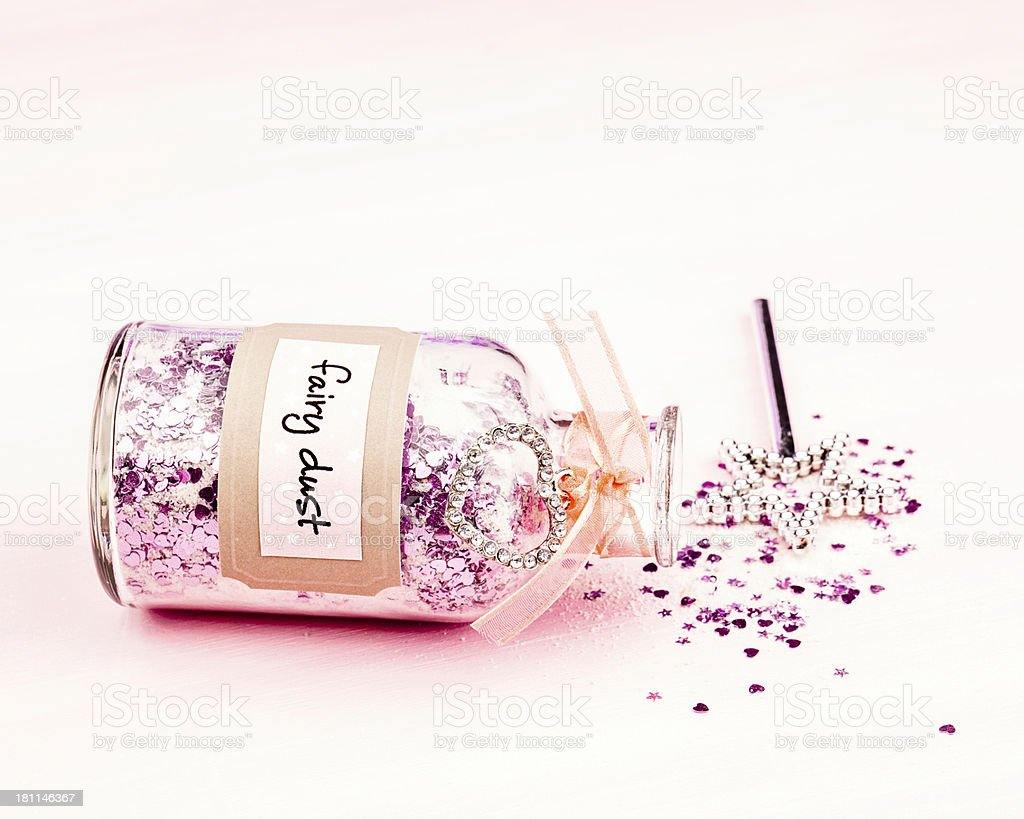 Fairy Dust and Magic Wand stock photo