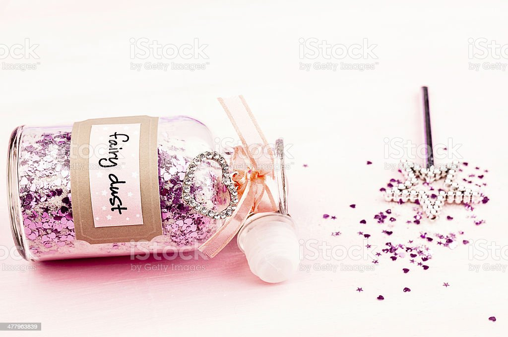 Fairy Dust and Magic Wand stock photo