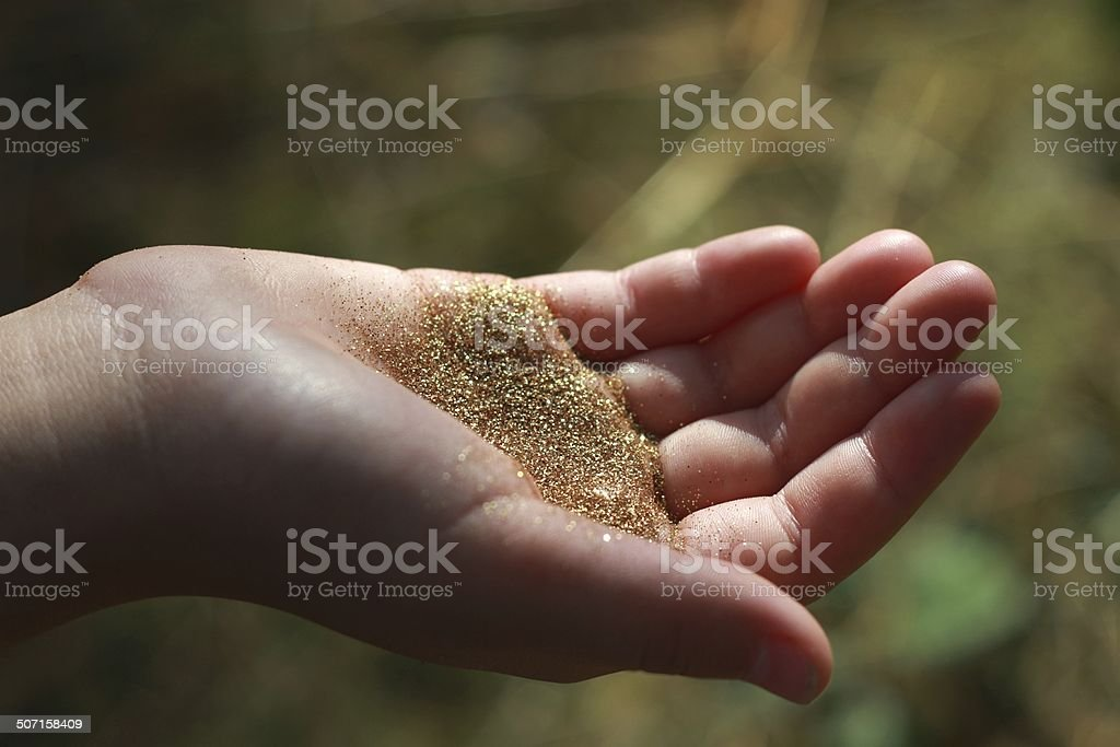 fairy dust stock photo