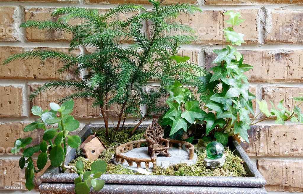 Fairy Garden stock photo