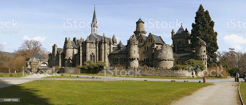 fairy medieval castle stock photo