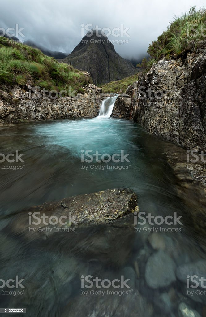Fairy Pool, Isle of Sky stock photo