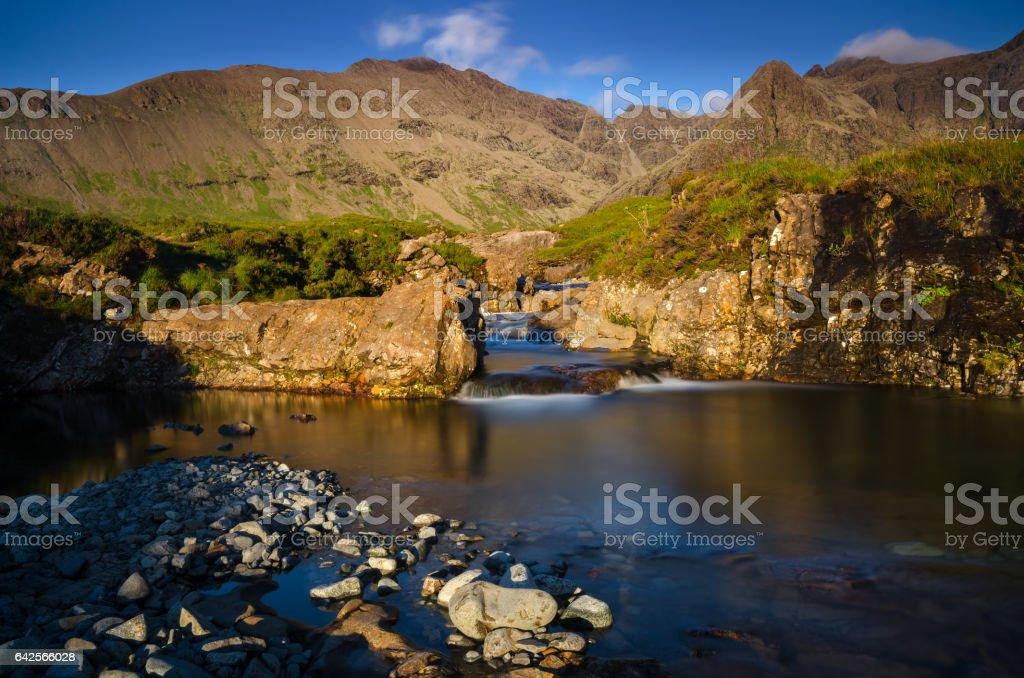 Fairy Pools waterfalls stock photo