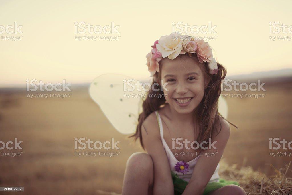 Fairy Smiling stock photo