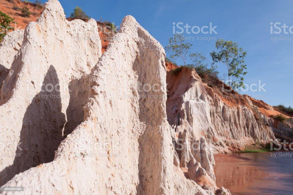 Fairy Stream Canyon. Mui Ne. Vietnam royalty-free stock photo