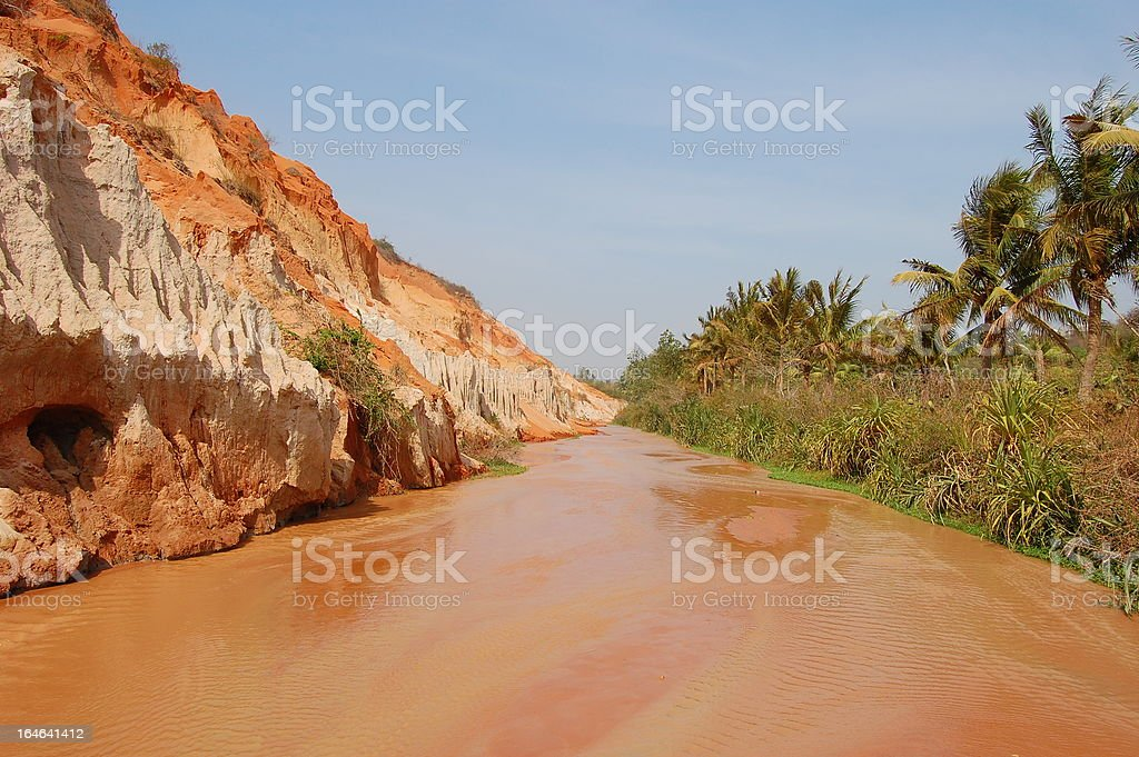 Fairy stream, Mui ne - Vietnam royalty-free stock photo