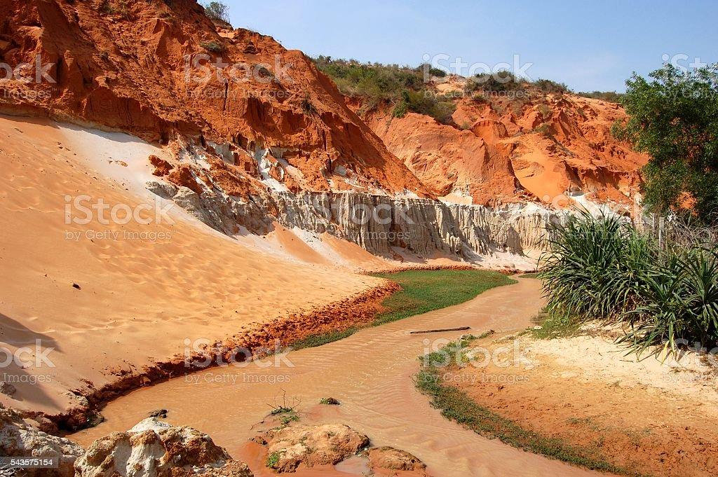 Fairy stream, Mui ne, Vietnam stock photo