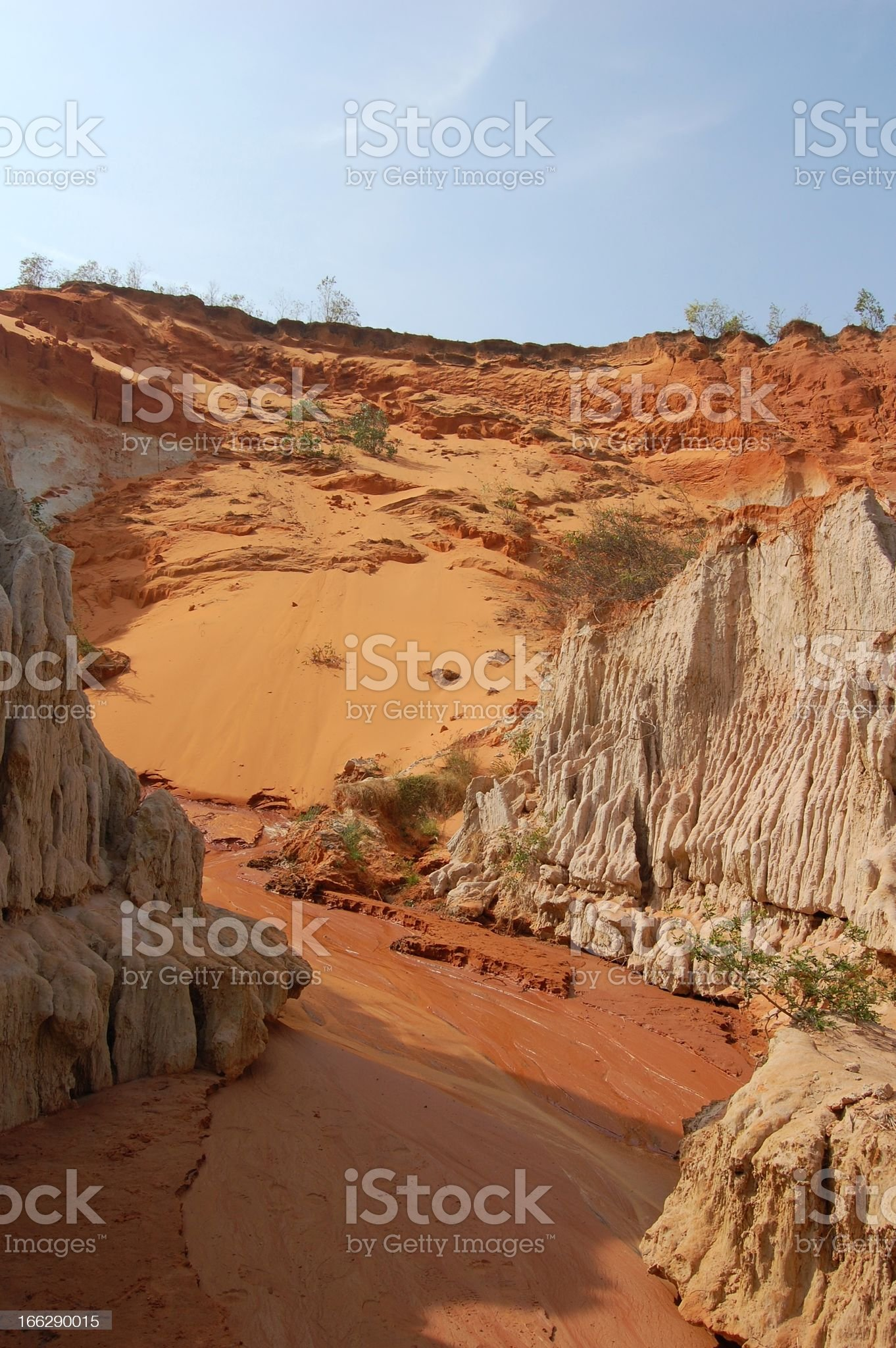 Fairy stream red rock canyon, Mui Ne Vietnam royalty-free stock photo