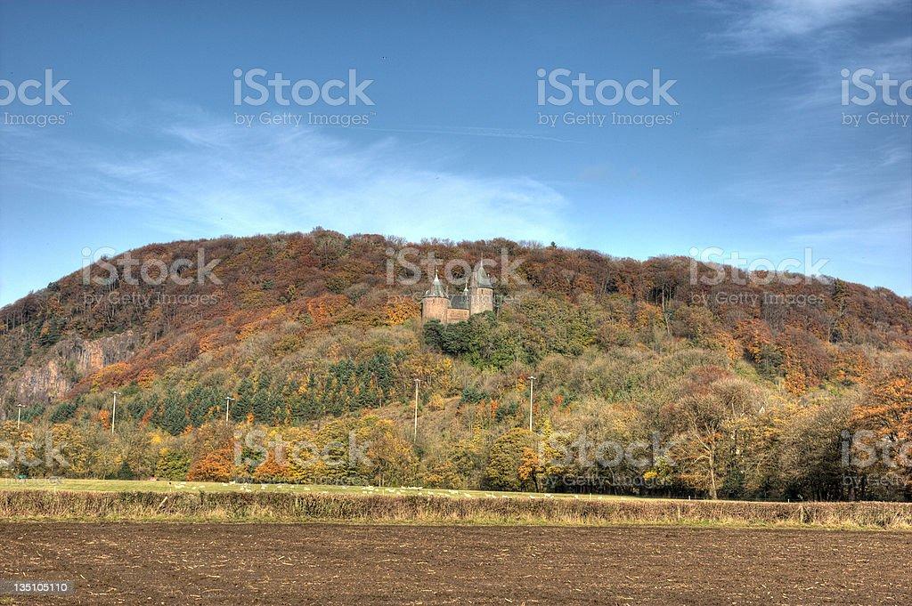 Fairy tale castle Castell Coch stock photo