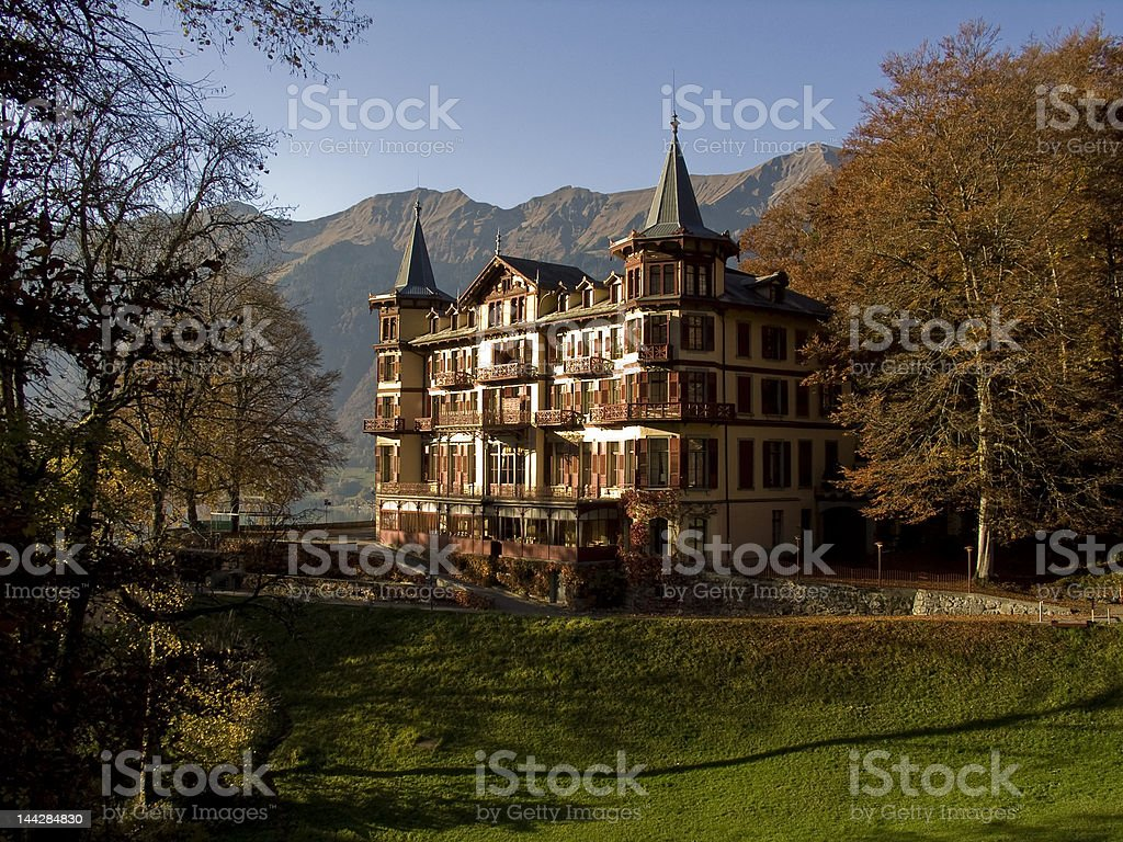 Fairy tale castle in forest royalty-free stock photo