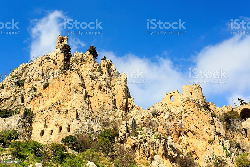 Fairy Tale Castle of Hilarion in Northern Cyprus stock photo