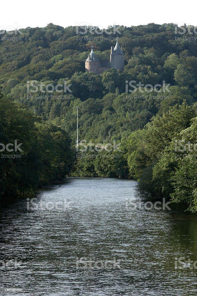 Fairy tale castle stock photo