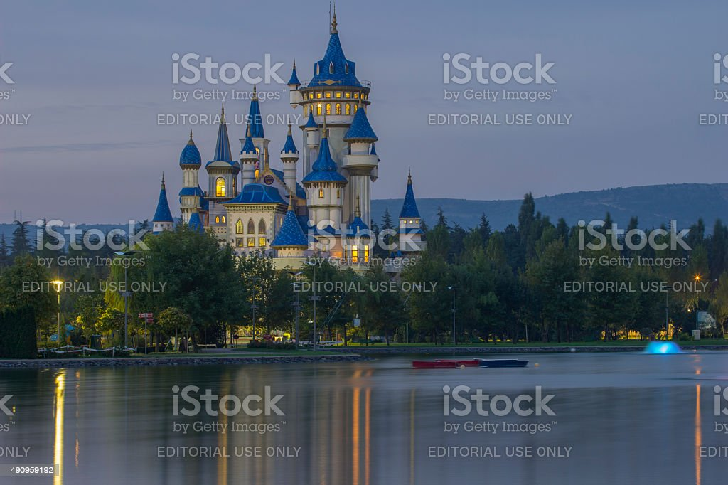Fairy Tale in the morning stock photo