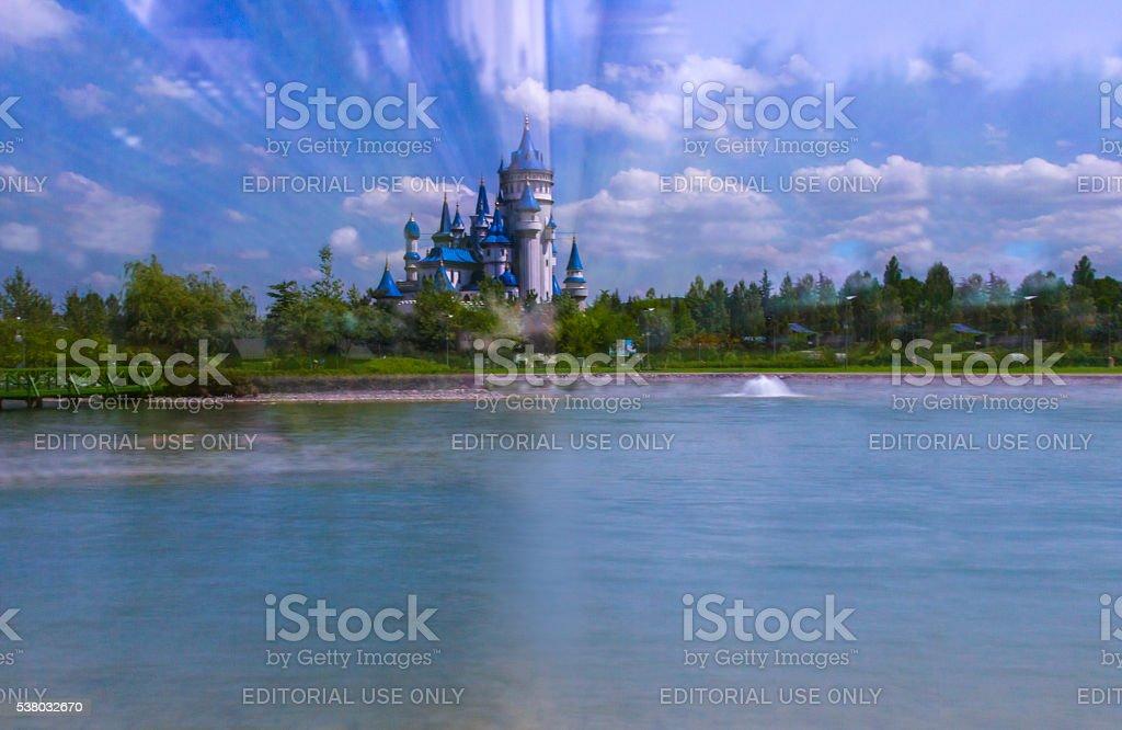 Fairy Tale Near Pool stock photo