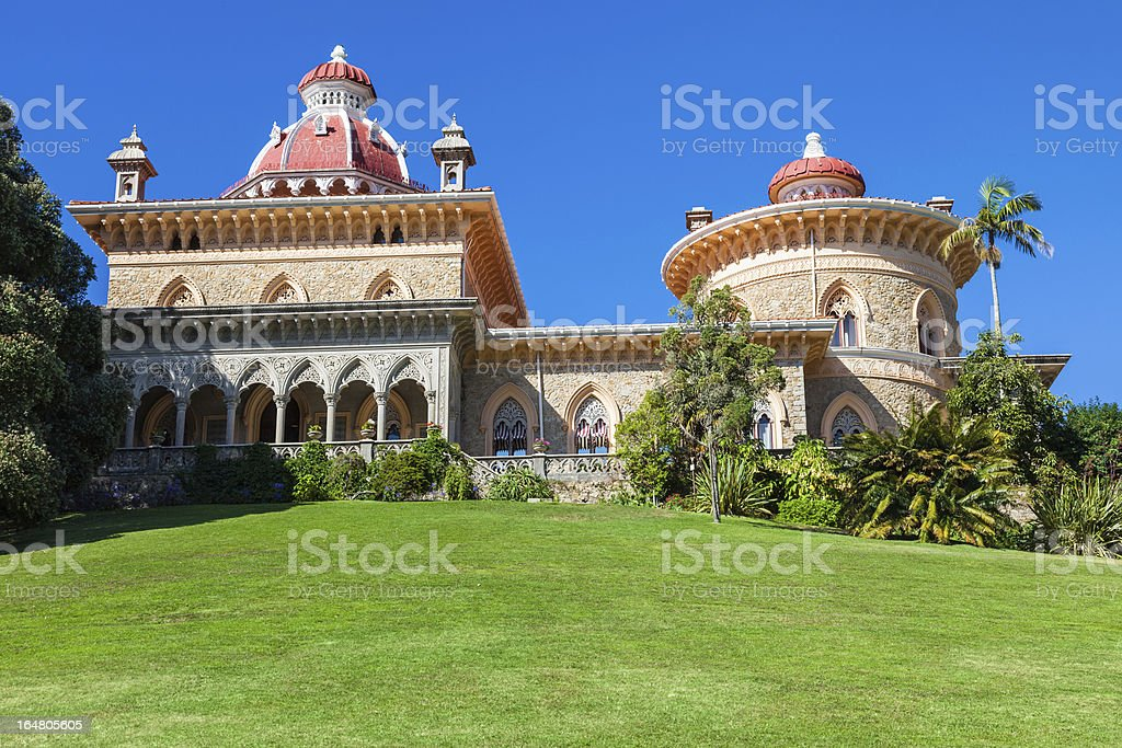 Fairy tale palace of Monserrate royalty-free stock photo