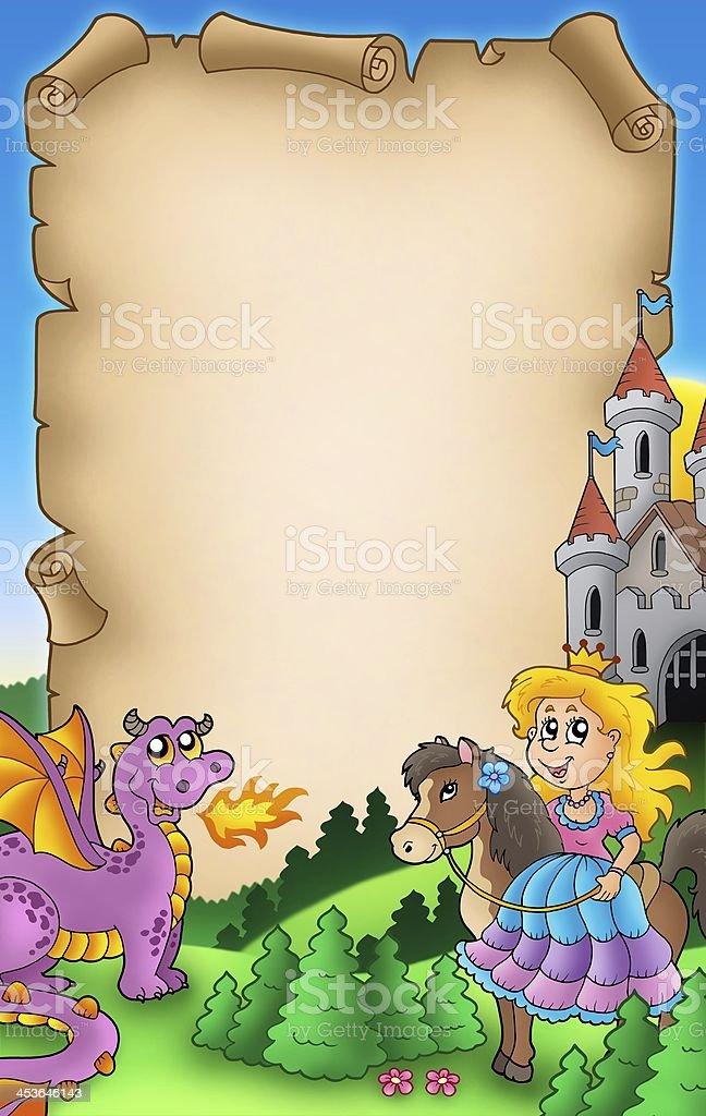 Fairy tale parchment 2 stock photo