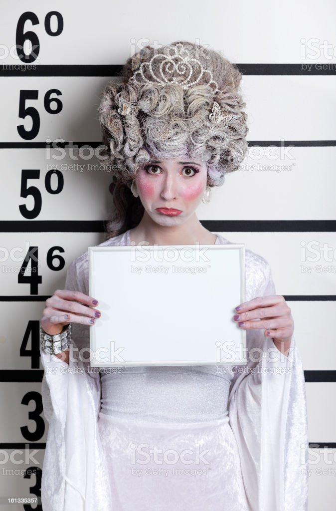 Fairy Tale Princess Mugshot stock photo