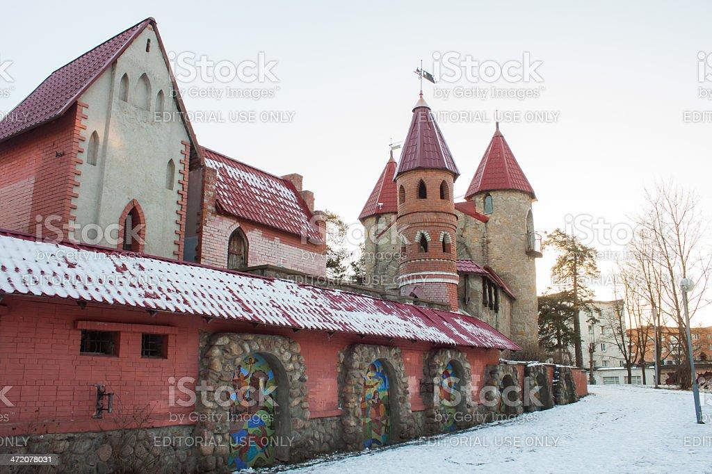 Fairy town stock photo