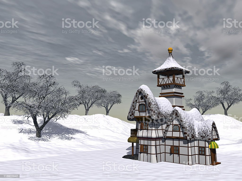 fairy-tale cottage royalty-free stock photo