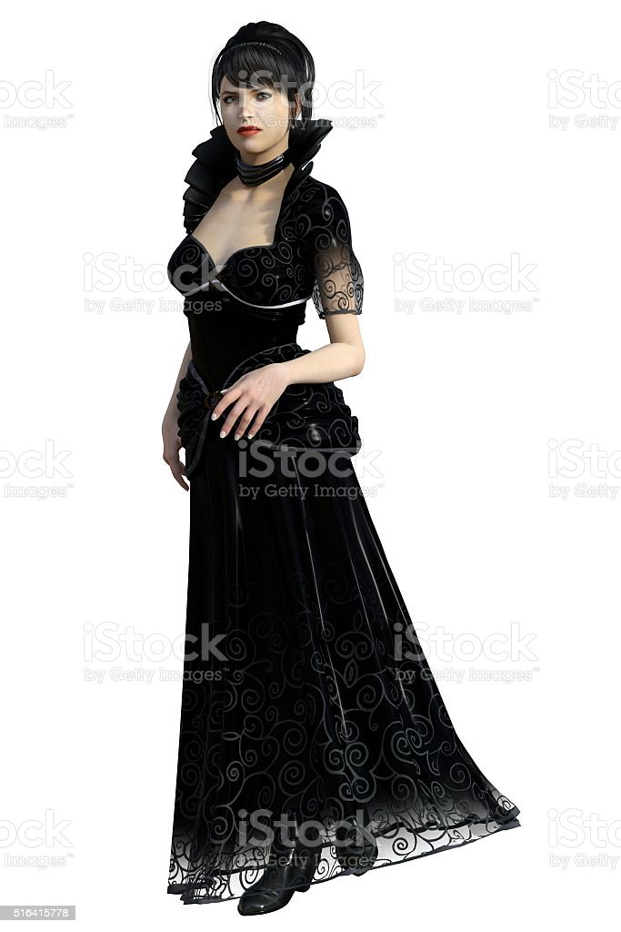 Fairy-tale evil stepmother stock photo