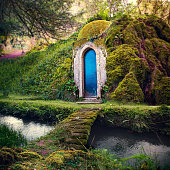 Fairytale Home in Magical Fantasy Forest Background