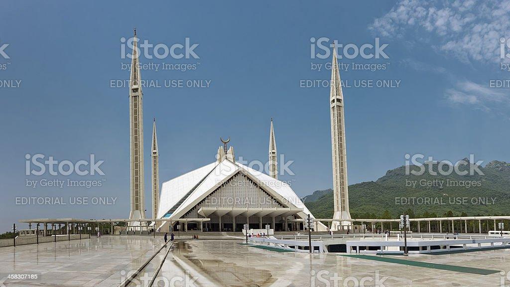 Faisal Mosque, Islamabad, Pakistan stock photo