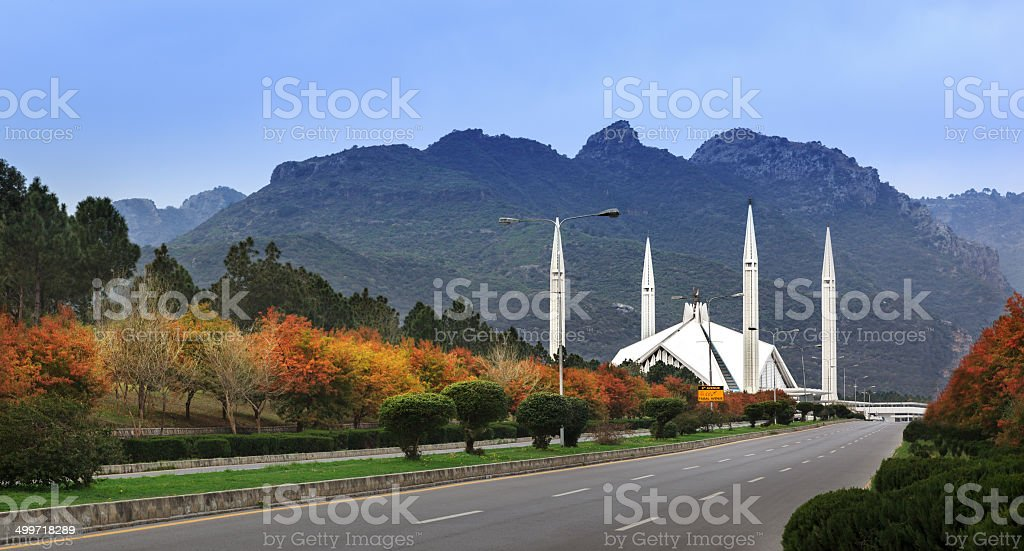 Faisal Mosque Islamabad Pakistan stock photo