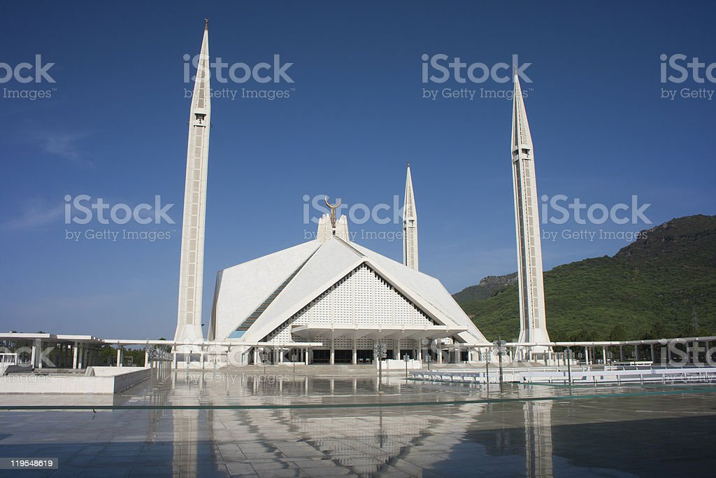 Faisal Masjid stock photo