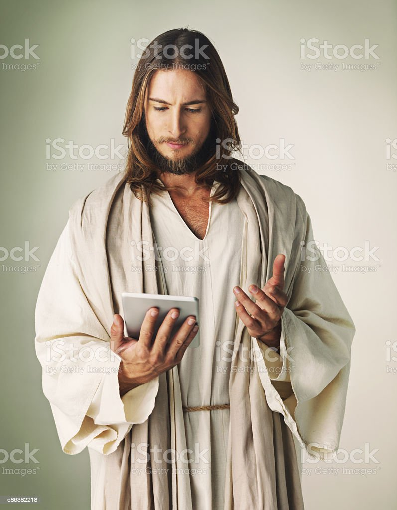Faith and 4g technology - the greatest of the wireless connections stock photo