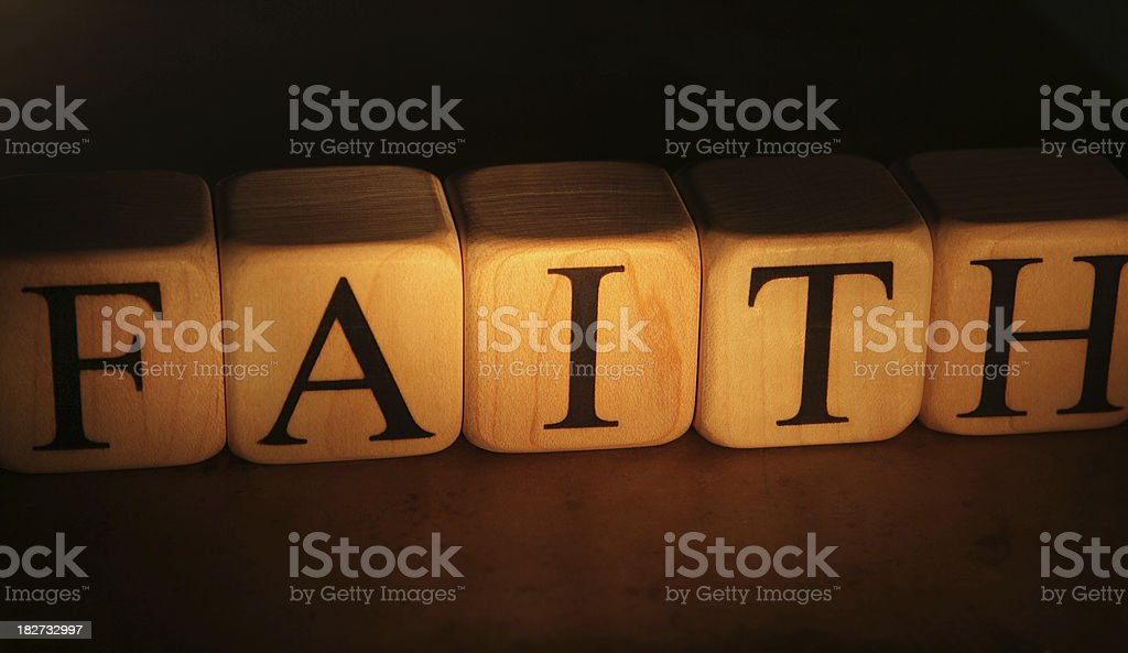 Faith - Building Blocks royalty-free stock photo