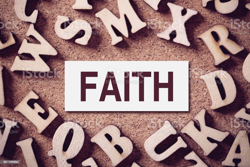 Faith Concept Word stock photo