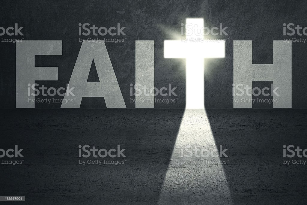 Faith Door stock photo