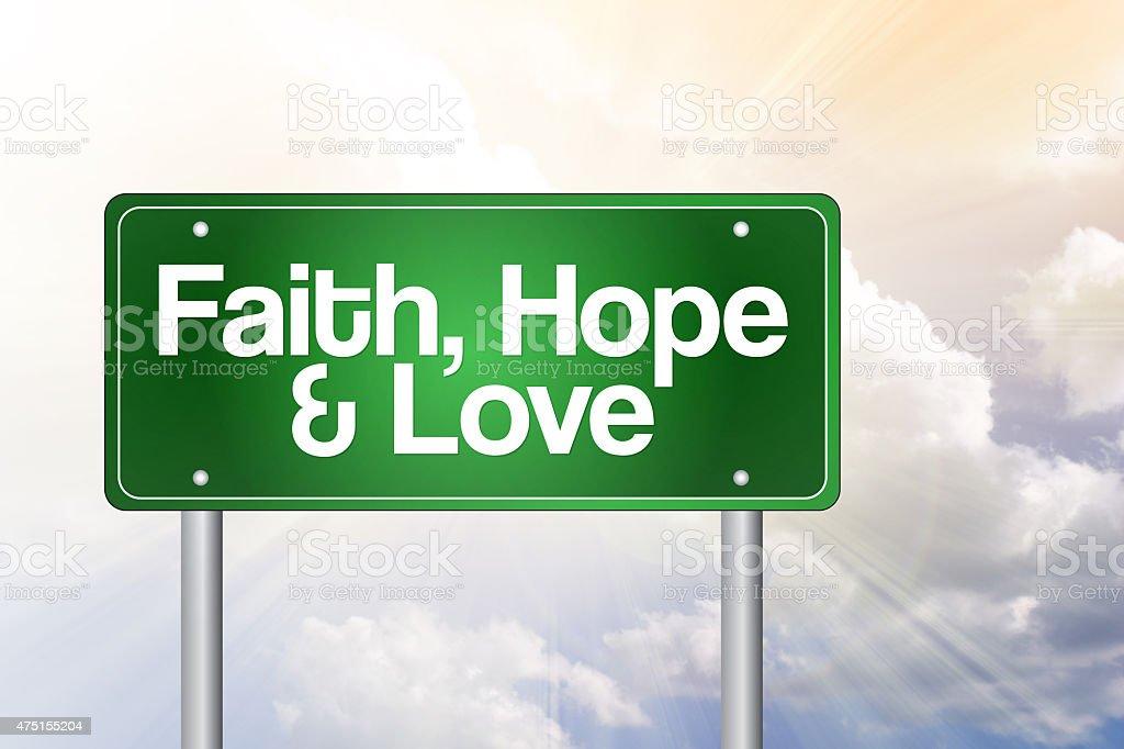 Faith, Hope and Love stock photo