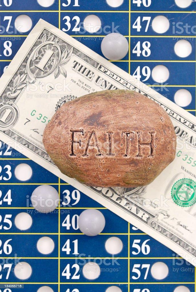 Faith in a Buck royalty-free stock photo