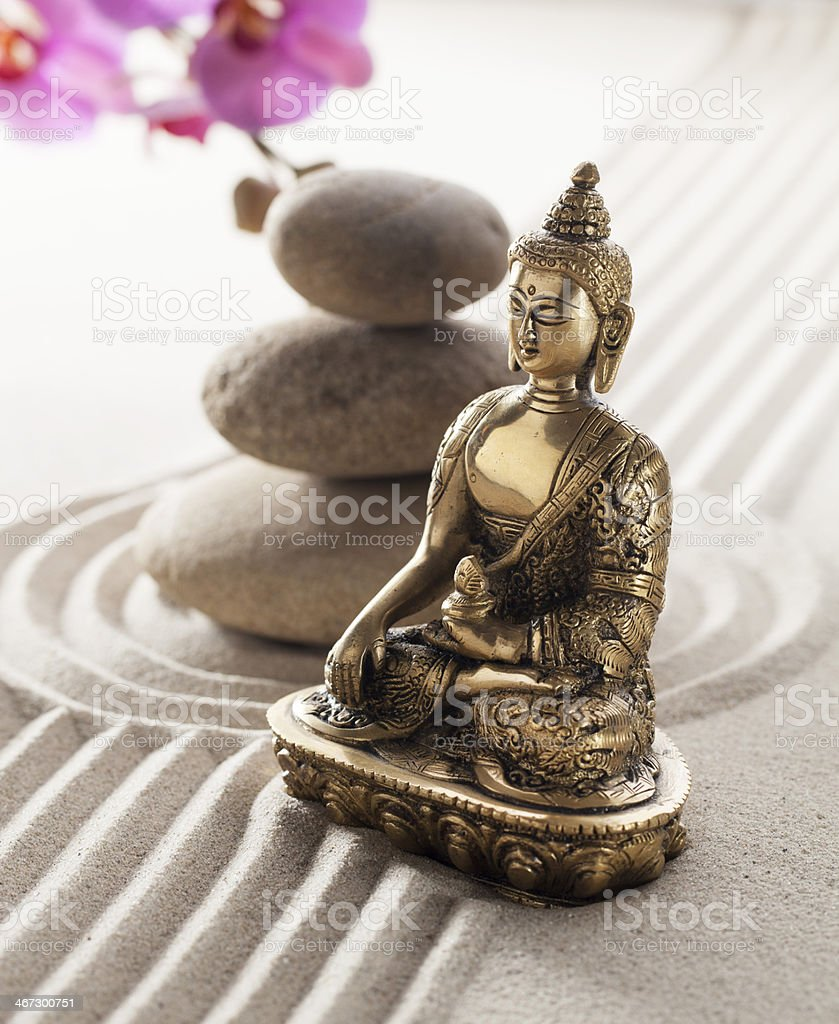 faith in relaxation and meditation with zen mindset royalty-free stock photo
