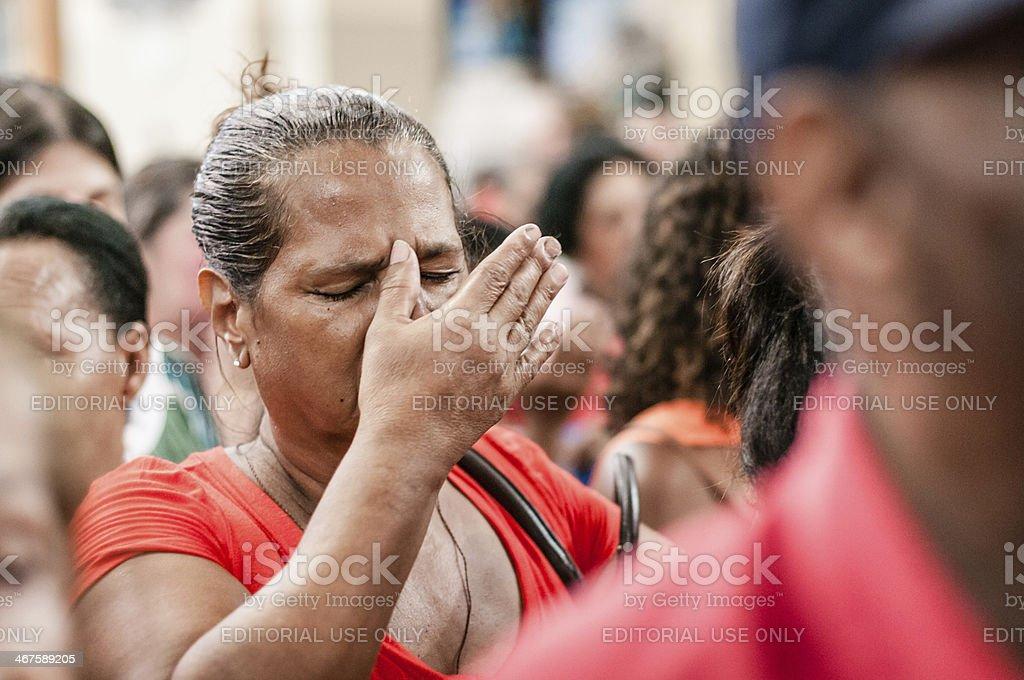 Faith in Rio stock photo