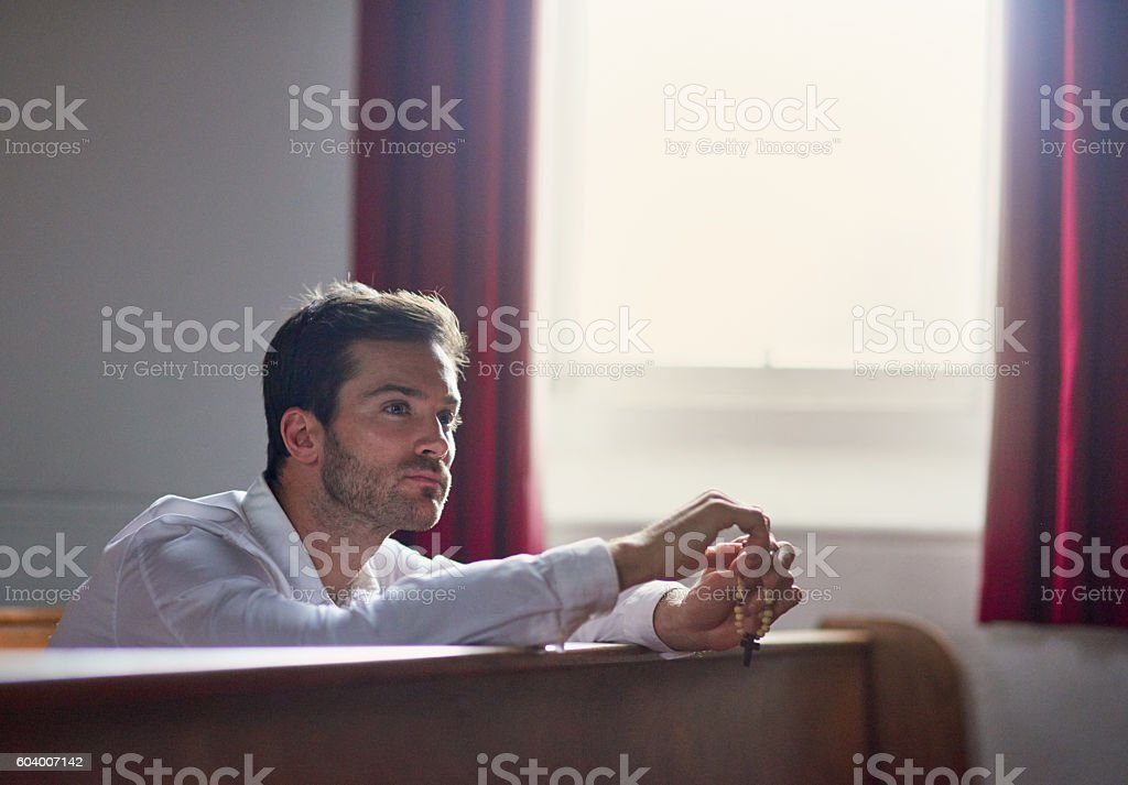 Faith is the light you feel during dark times stock photo