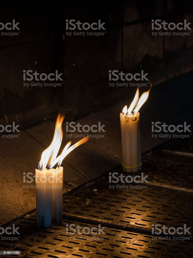 Faith lights - Candles IV stock photo