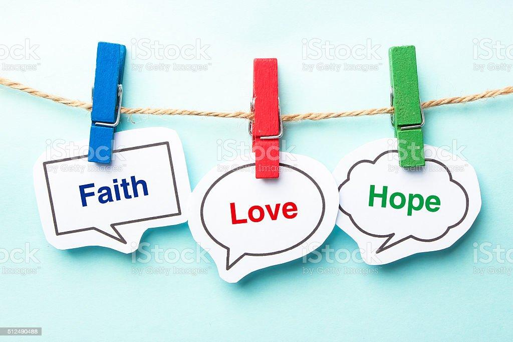 Faith love hope stock photo