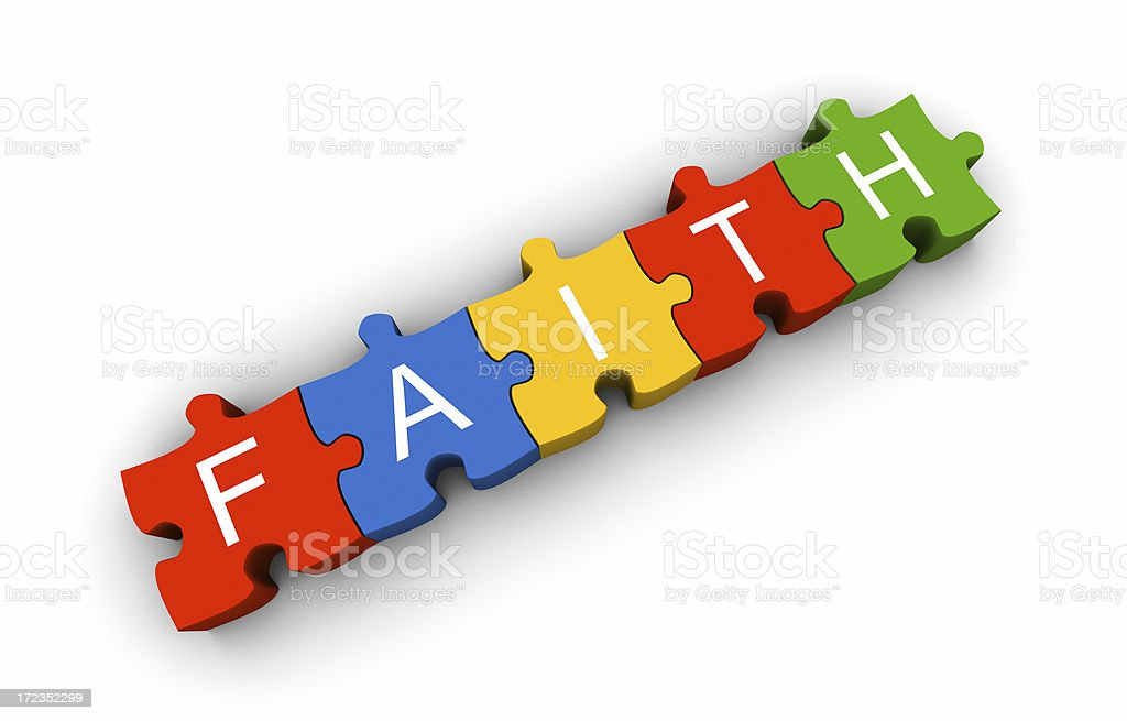 Faith puzzle royalty-free stock photo