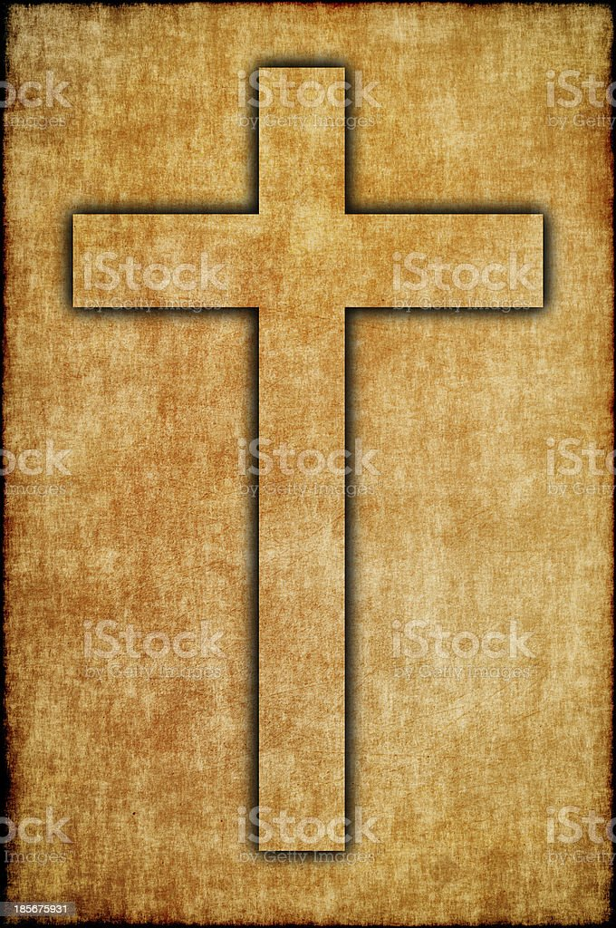 Faith symbol. Cross. royalty-free stock photo