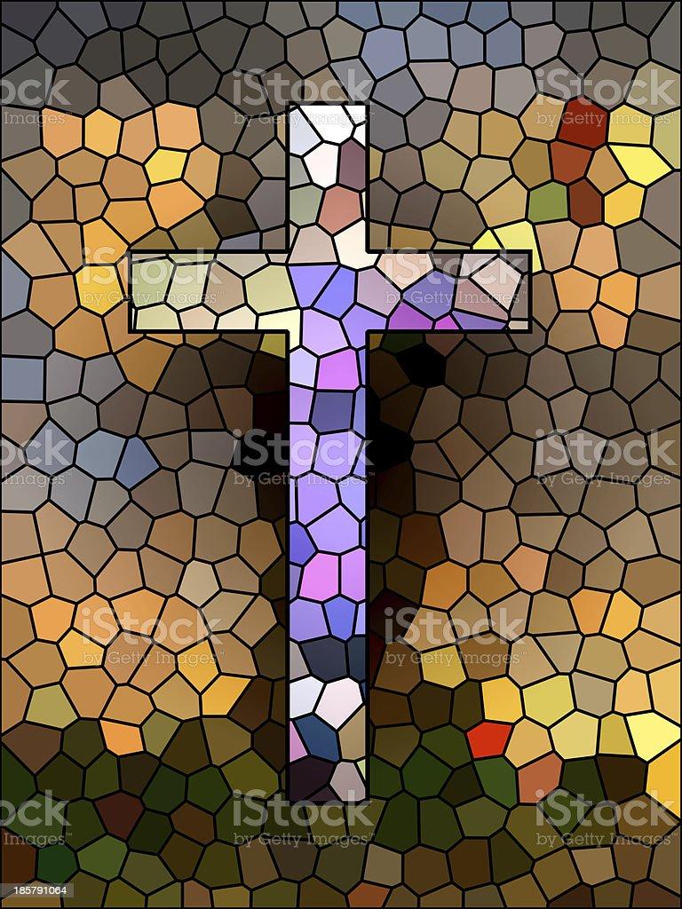 Faith symbol. Cross. royalty-free stock photo