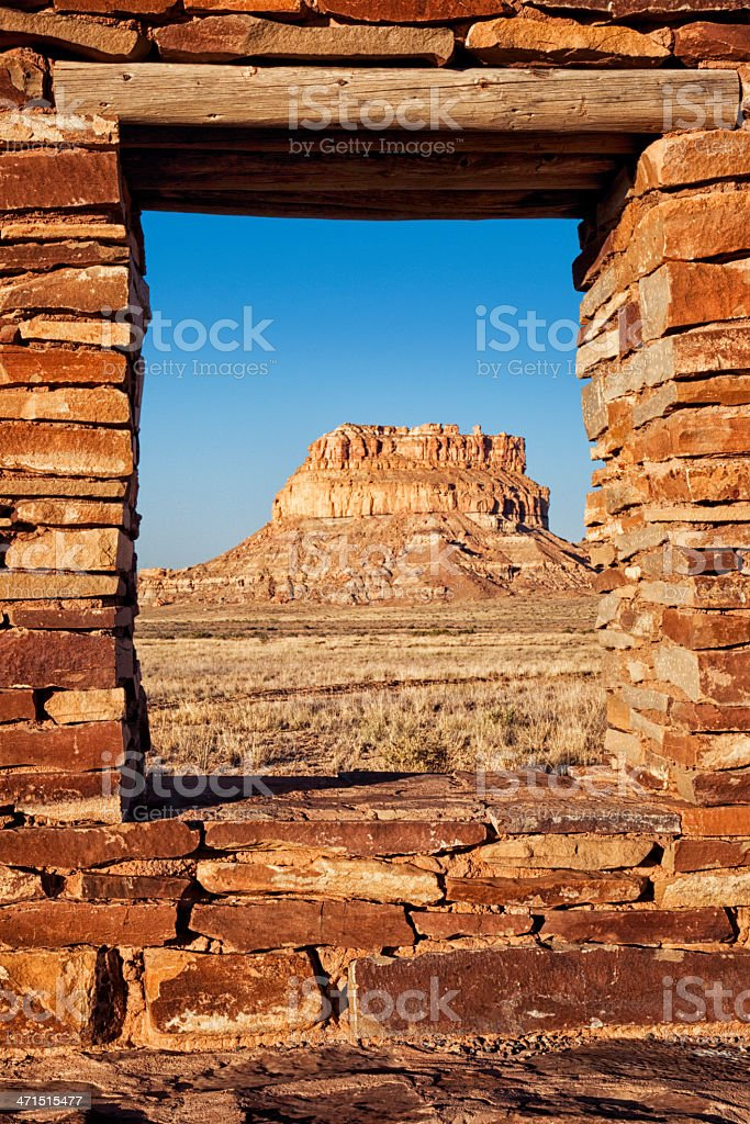 Fajada Butte - Chaco Culture National Historical Park stock photo